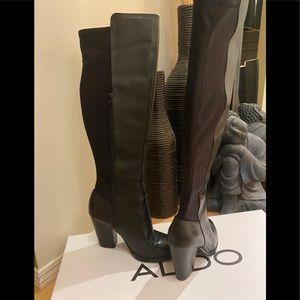 Aldo Overknee Stretch Back Boots